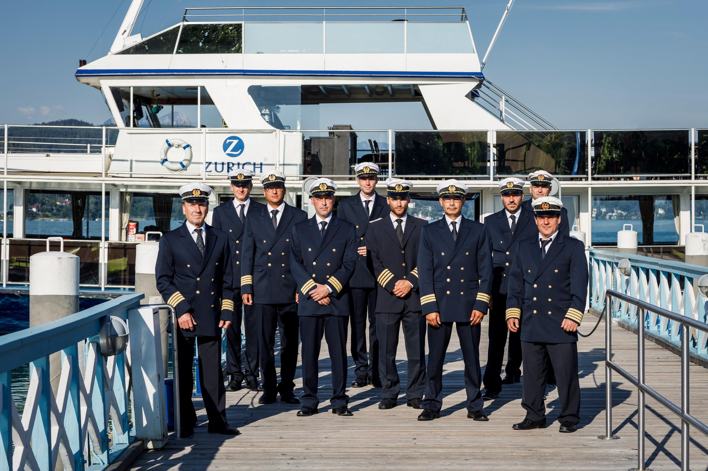 Kapitäne der Wörthersee Schifffahrt